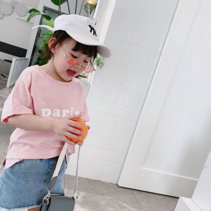 ☺︎kids☻parisロゴプリントデザイン半袖トップス【ピンク】#270
