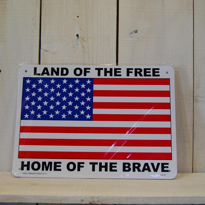 USAサインボード プラスティック 看板 アメリカ国旗 星条旗 星