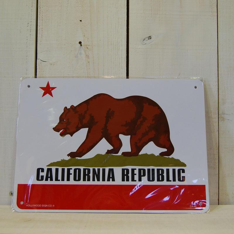 カリフォルニアサインボード プラスティック 看板 カリフォルニア州旗