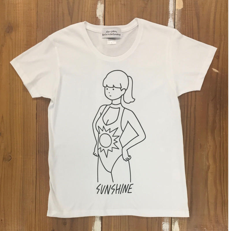 Sunshine S/S T shirts Lady's   WHT  ( イラスト白根ゆたんぽ)