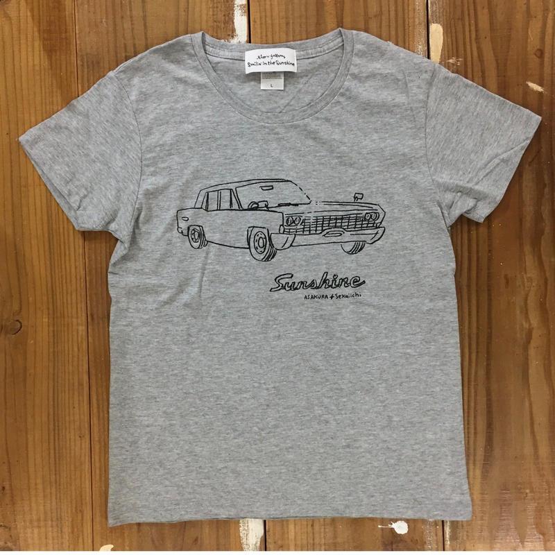 Sunshine S/S T shirts Lady's   GRY ( イラスト 朝倉世界一)