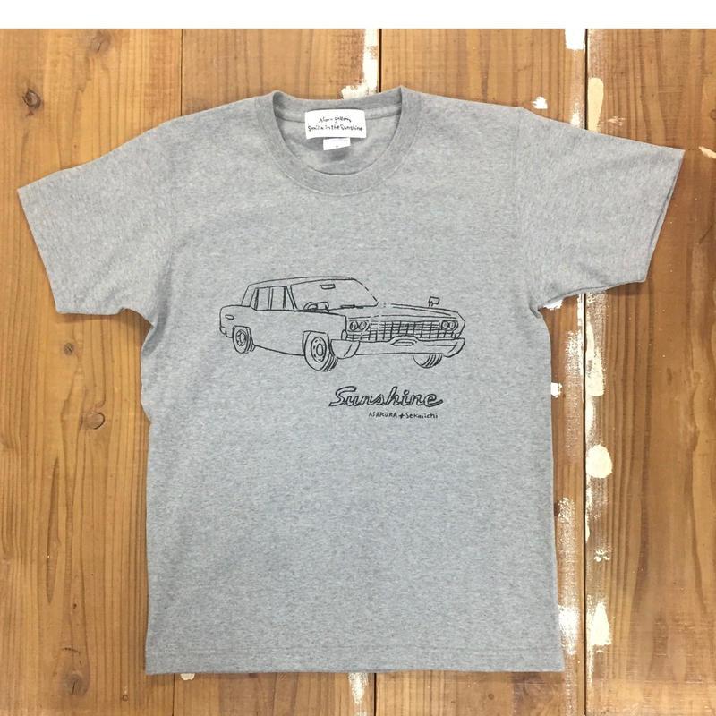 Sunshine S/S T shirts  GRY ( イラスト 朝倉世界一)
