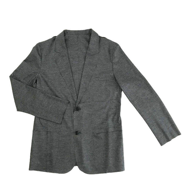 Men's レギュラーウールメルトンジャージー カットオフジャケット(SL-J050-101)