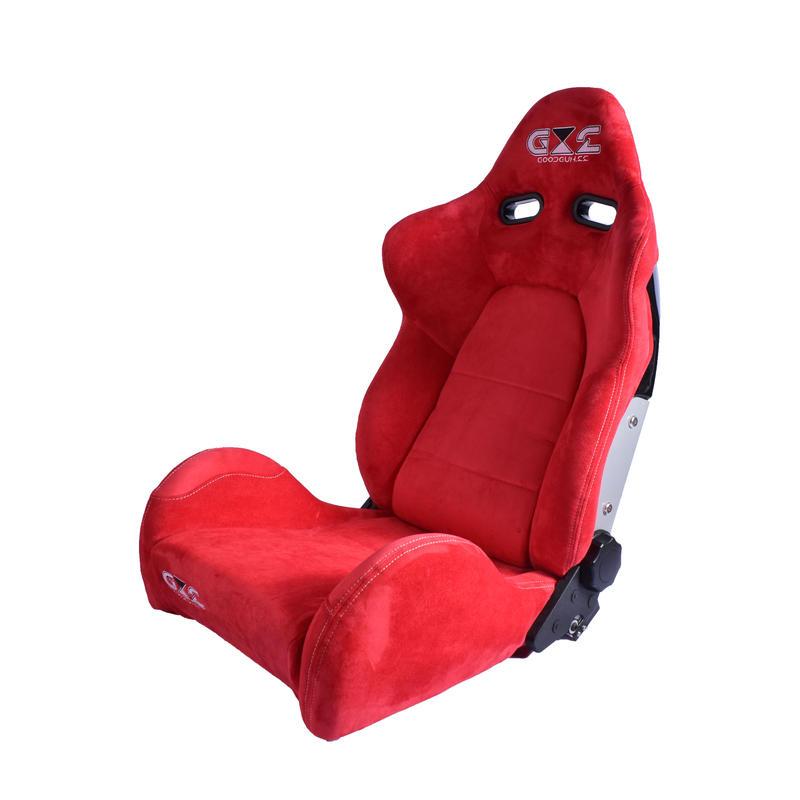 GoodGunオリジナル アルカンターラ調 セミバケットシート カラー:レッド