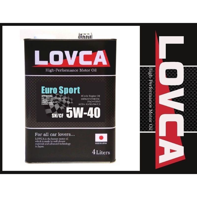 ラブカオイル LOVCA EURO-SPORT 5W-40 4L