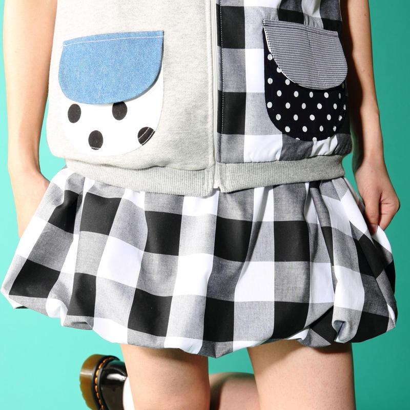 スノウピーのボーダーバルーンスカート♡  大ギンガム