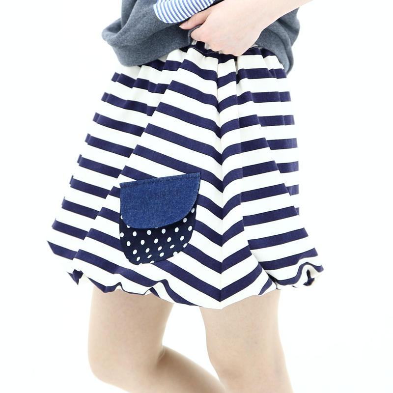 ボーダーバルーンスカート♡