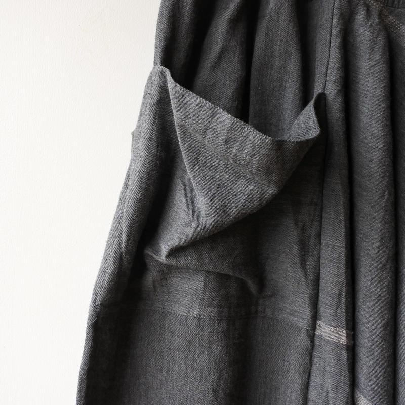 [tamaki niime] wide pants-short  WP-S-hazuki