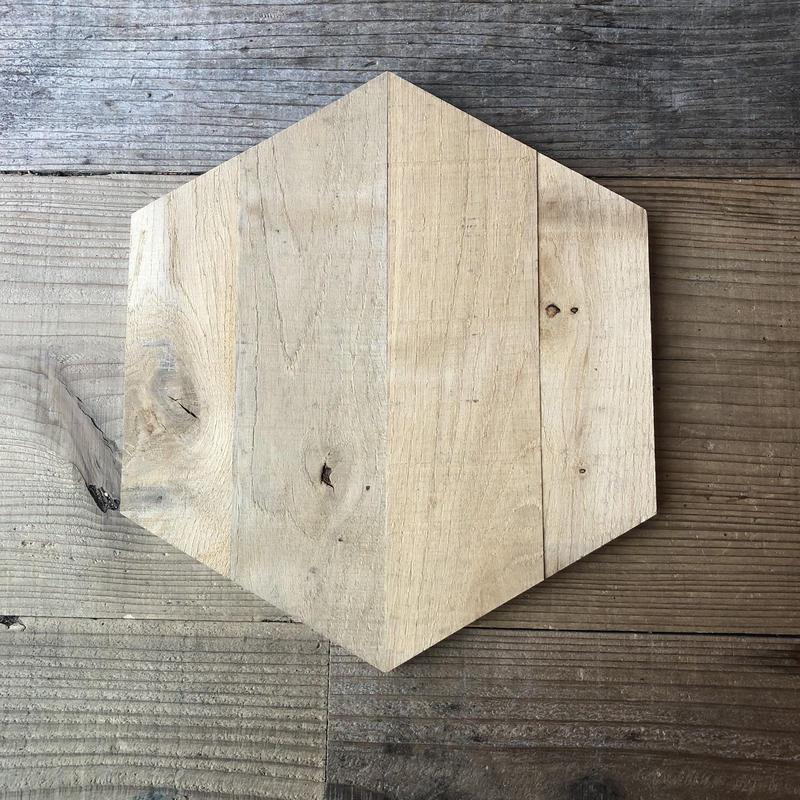 ウッドタイル Hexagon-rough Lot 1