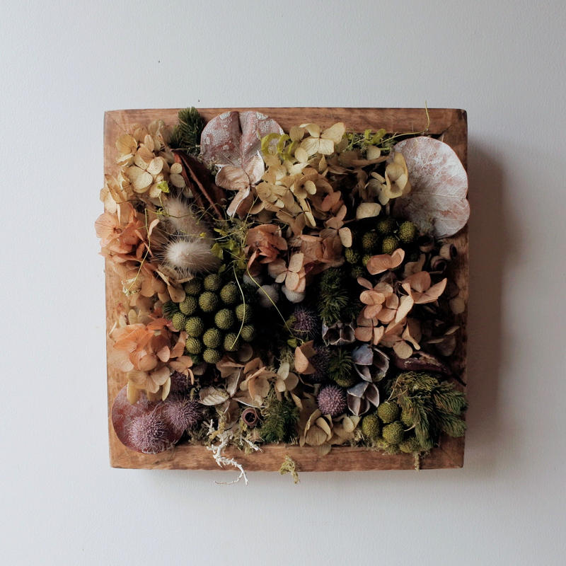Botanical Arrange Wood Frame square1