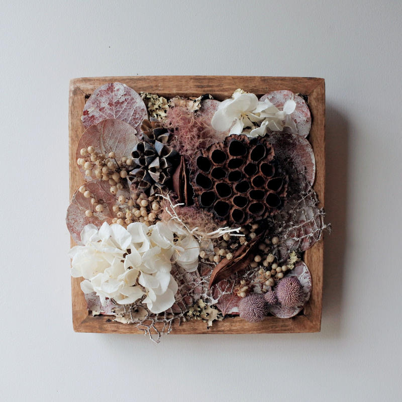 Botanical Arrange Wood Frame square2