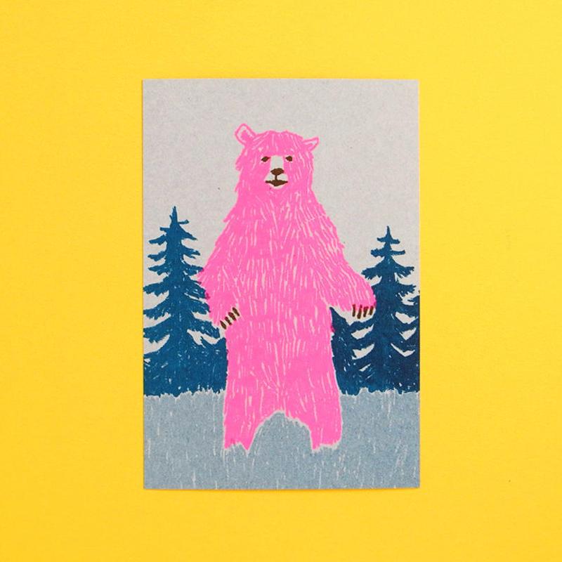 レトロポストカード/クマ