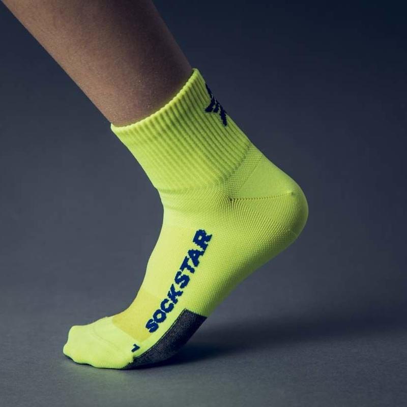 SOCKSTAR yellow&blue 22-24cm