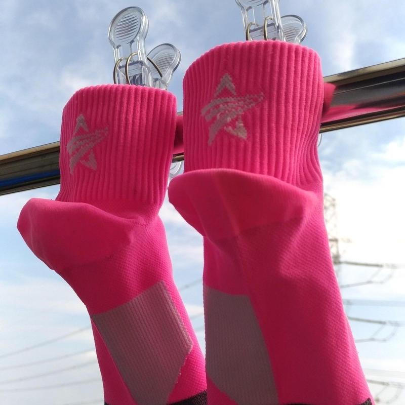 SOCKSTAR pink&white 22-24cm