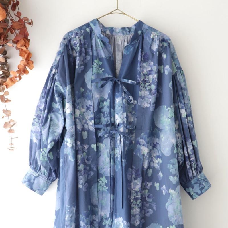 the last flower of the afternoon ザ ラスト フラワー オブ ジ アフタヌーン | 四葩のgown dress | アジサイブルー