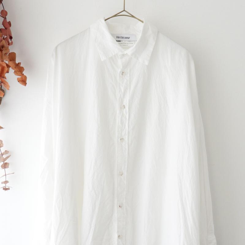 Veritecoeur ヴェリテクール | バックラウンドシャツ | ホワイト