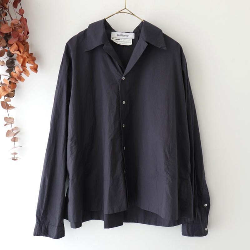 Veritecoeur ヴェリテクール | オープンカラーシャツ | ネイビー