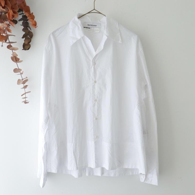 Veritecoeur ヴェリテクール | オープンカラーシャツ | ホワイト
