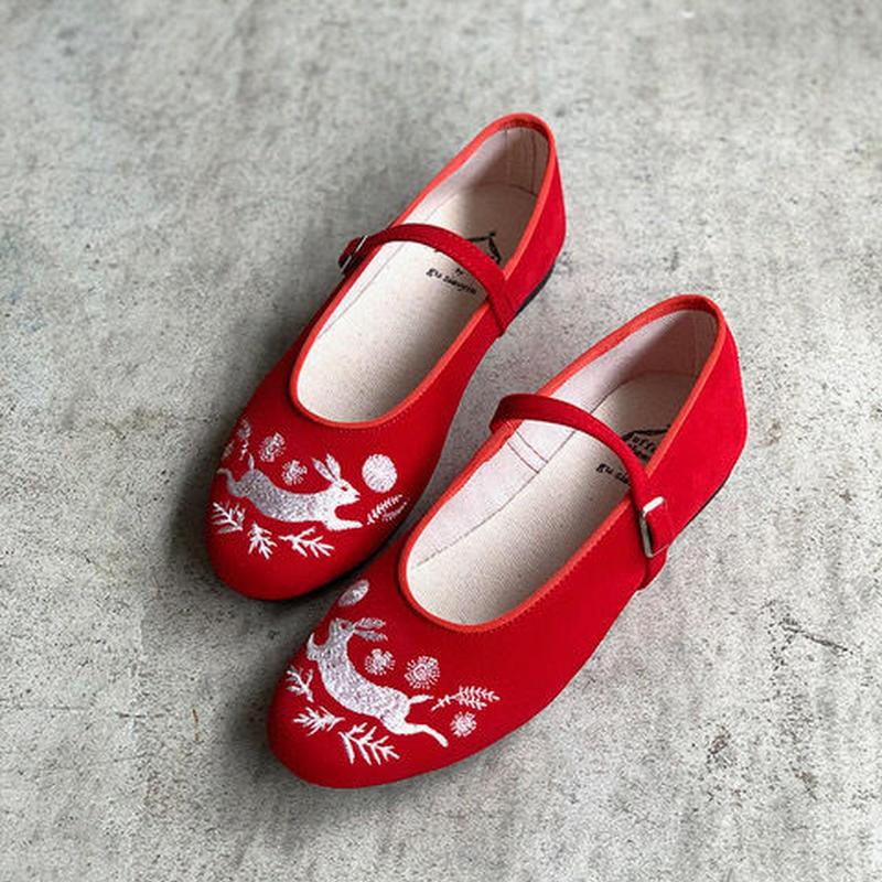 <予約販売>offoff theatre by gu siaoyin グ・シャオイン | 刺繍靴 | rabbit × moon