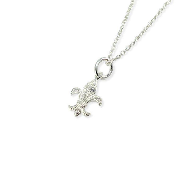 シルバー ネックレス<Lucky Charm/Fleur-de-lis>