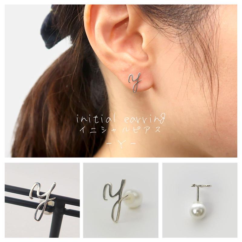 """Y""ピアス with シェルキャッチ"