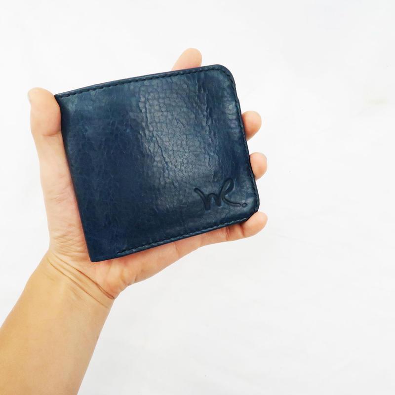 2つ折り財布/牛革オイルレザー