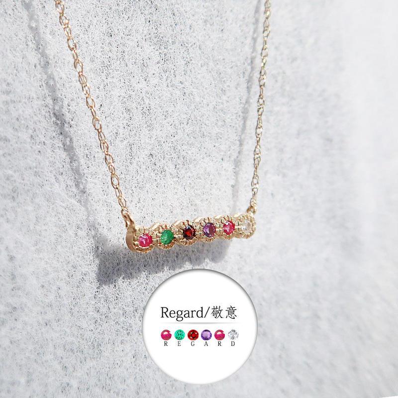 言葉を贈るメッセージネックレス<REGARD/敬愛>