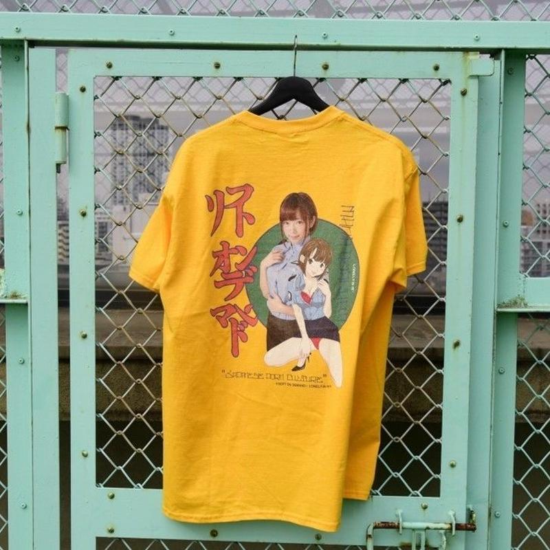 LONELY/論理 SAKURAMANA S.O.D T-shirt -orange-