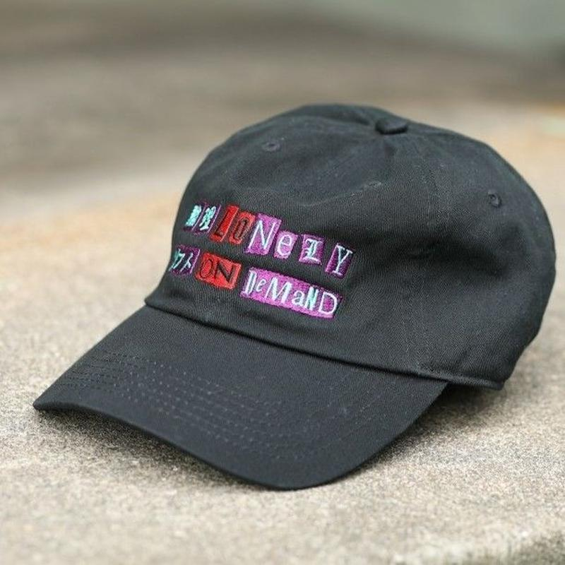 LONELY/論理 ANARCHY S.O.D LOGO CAP -black-