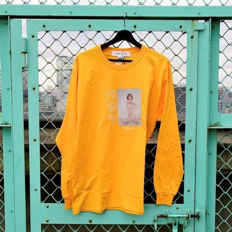 LONELY/論理 ICHIKAWAMASAMI S.O.D. Long Sleeve T-shirt  -orange-
