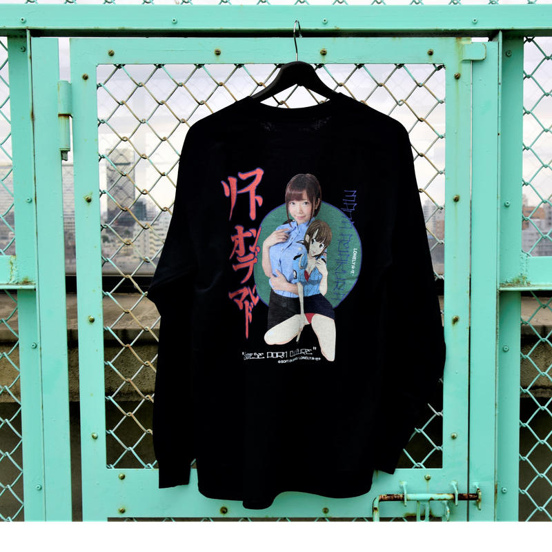 LONELY/論理 SAKURAMANA S.O.D. Long Sleeve T-shirt  -black-