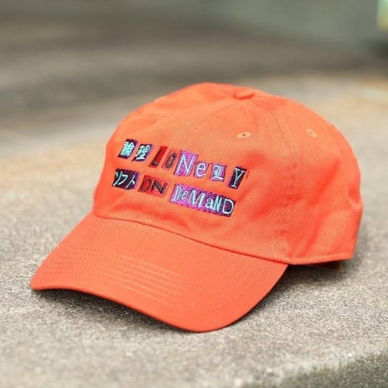 LONELY/論理 ANARCHY S.O.D LOGO CAP -orange-