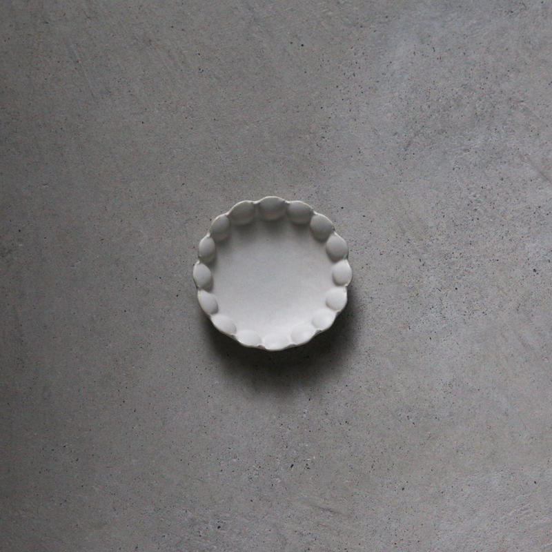 no./p001 flower dish plate (約9cm)