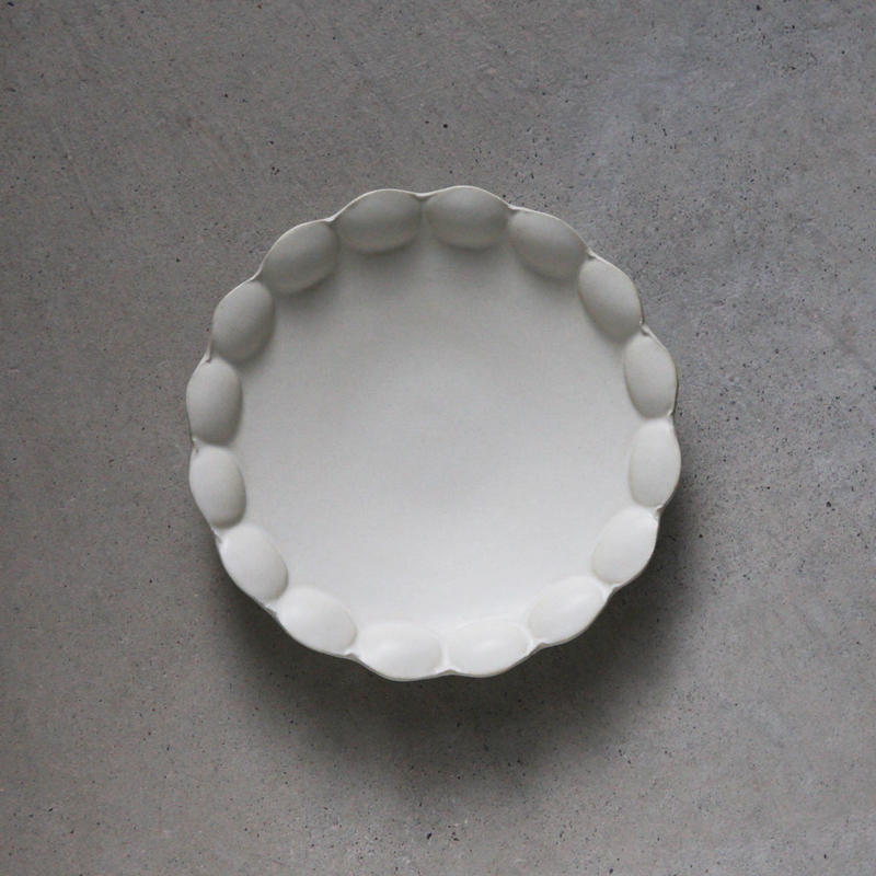 no./p008 flower plate (約18cm)