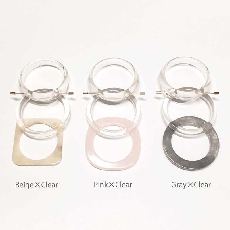 Layered clear new bangle (3P)