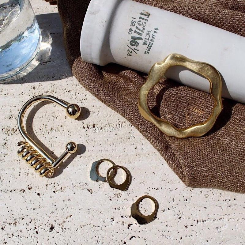 Bronze flat bangle