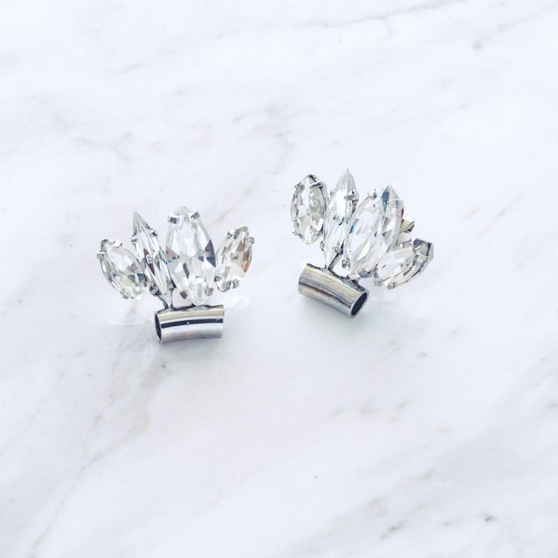 Shell motif earclip (Silver)