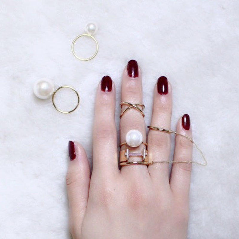 Custom pearl ring (3P set)