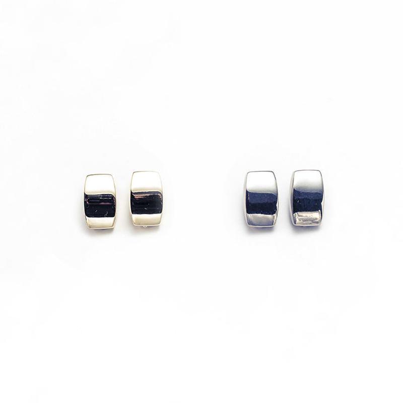 Metal stone earing (Square)