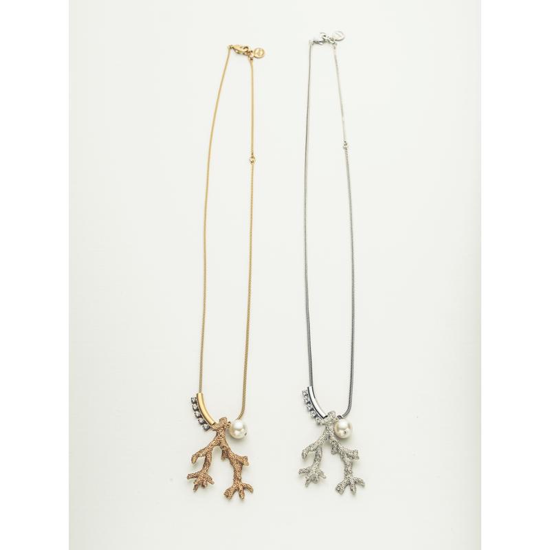 Sea motif long necklace