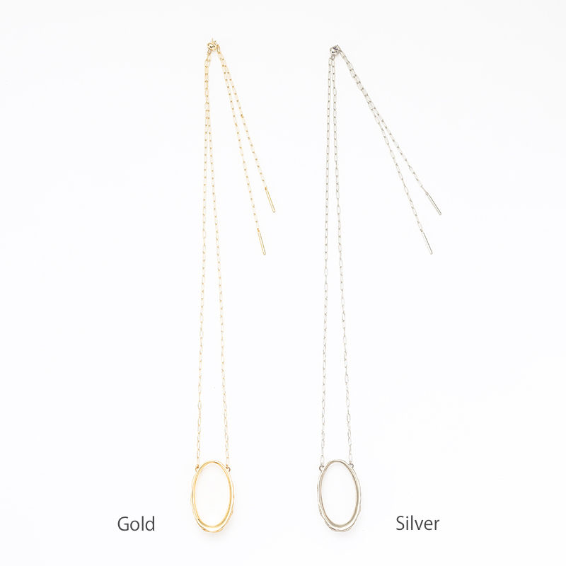 Stone hoop necklace