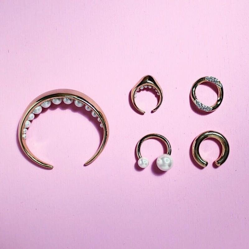 Pearl fork ring (2Pearl)