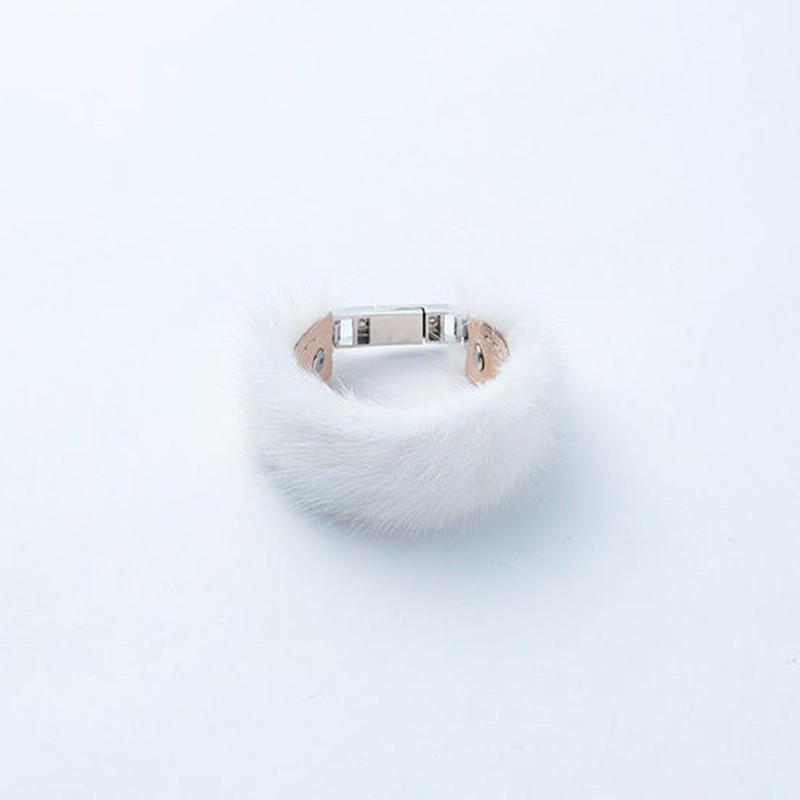 Mink fur bracelet