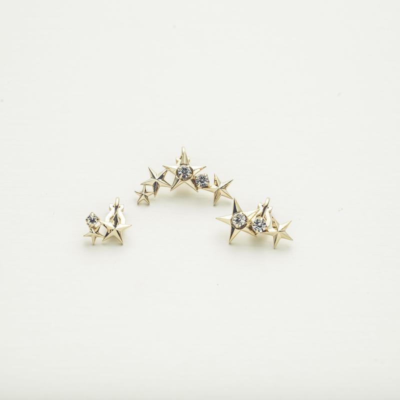 Star motif ear cuff (3P set)