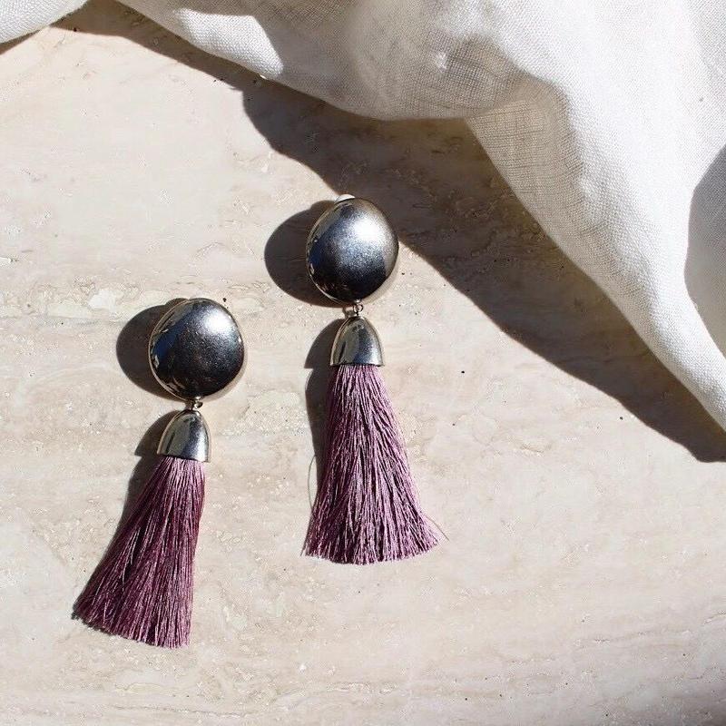 Tassel earing (Purple)