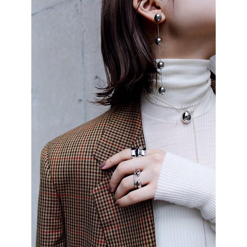 Metal stone necklace ※Slide Type
