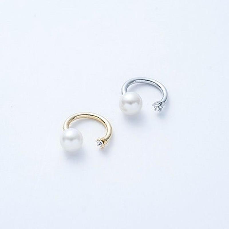 Pearl fork ring (Bijou+Pearl)
