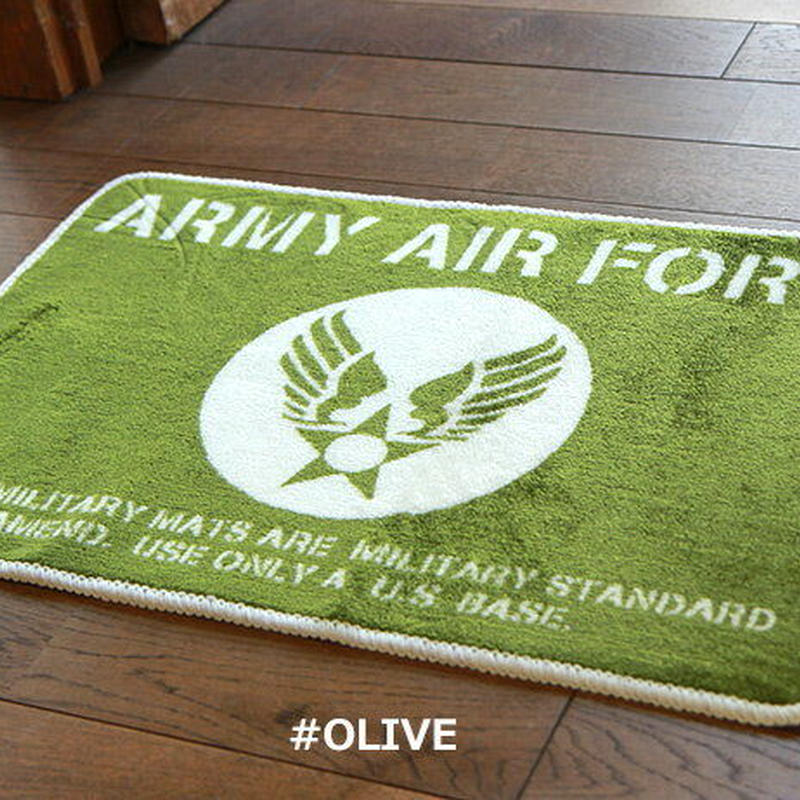 Culture Mart アメリカンフロアマット  ARMY green