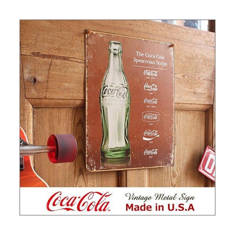 コカ コーラ Script Heritage メタル サイン ブリキ看板 Made in USA 1952