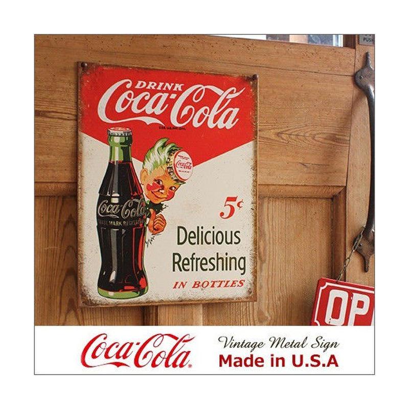 コカ コーラ Sprite Boy 5cts メタル サイン ブリキ看板 Made in USA 2168